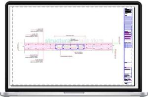 Slab Hidden Beam Reinforcement Cross Section Detail