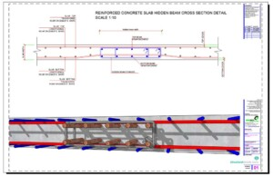 Slab Hidden Beam Reinforcement Cross Section Detail
