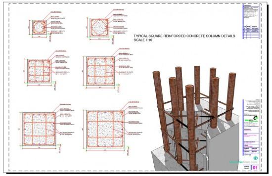 Square Reinforced Concrete Column Details