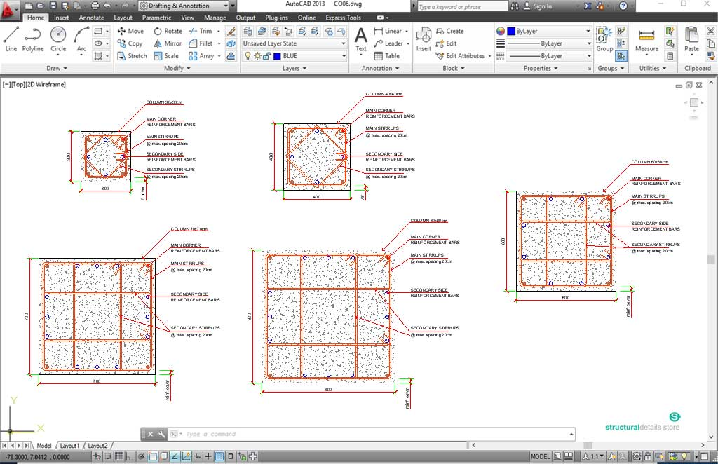 Pile Foundation Detail Dwg