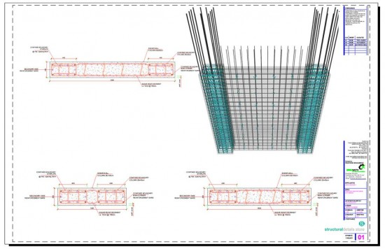 Shear Wall Reinforced Concrete Column Reinforcement Details