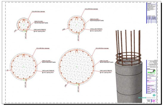 Circular Section Reinforced Concrete Column Details
