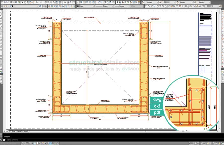 elevator shaft reinforced concrete shear wall details - Reinforced Concrete Wall Design Example