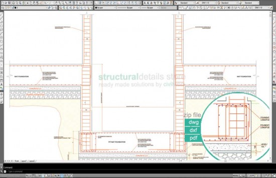 Elevator Shaft Pit Foundation Reinforcement Detail