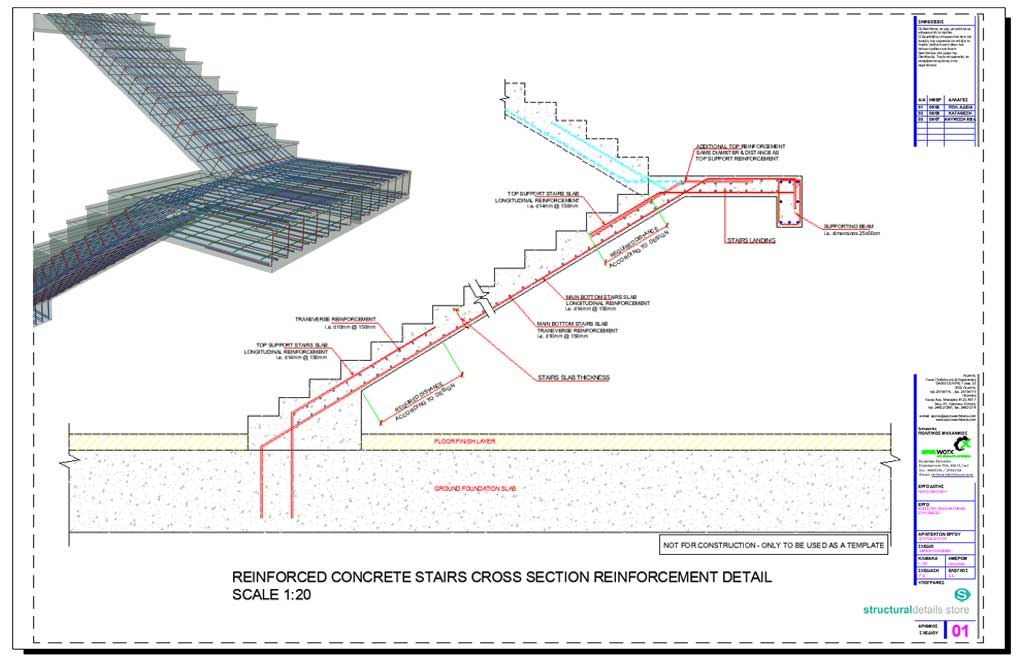 reinforced concrete stairs cross section reinforcement detail. Black Bedroom Furniture Sets. Home Design Ideas