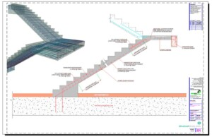 Reinforced Concrete Stairs Cross Section Reinforcement Detail