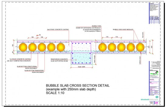 Bubble Voids Slab Cross Section Detail