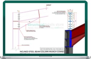 Inclined Steel Beam Column Endplate Haunch Connection