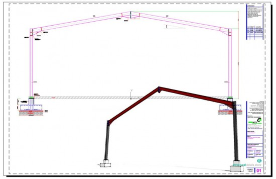 Typical Hangar Portal Frame Elevation View