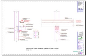 Elevated Industrial Crane Rail Support Detail