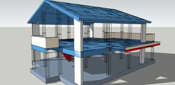Complete structural design drawings of a reinforced Concrete slab house plans
