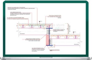 Steel Floor Slab Elevation Change Detail