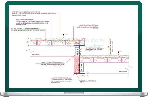 Floor Slab Elevation : Steel floor slab elevation change detail