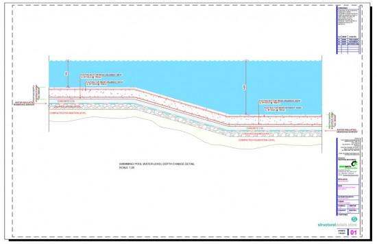 Swimming Pool Water Level Depth Change Detail