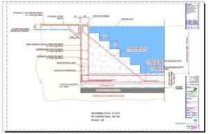 Swimming Pool Steps Retaining Wall Detail