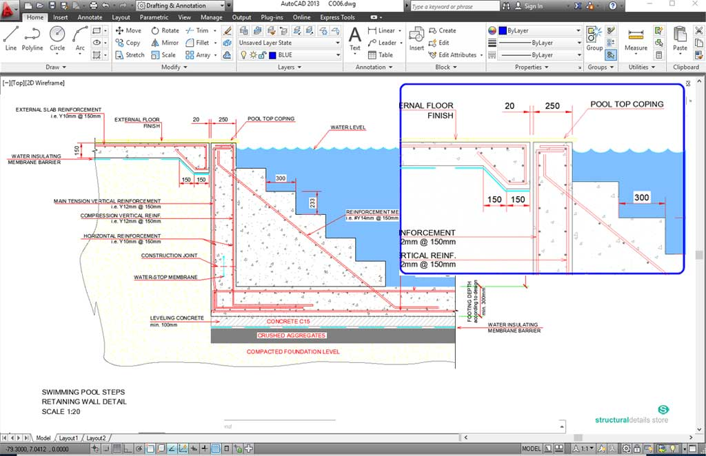 Remarkable swimming pool structural design calculations for Swimming pool design xls
