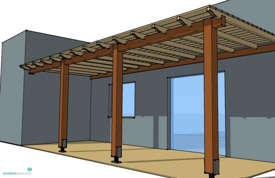 Simple Timber Pergola Complete Solution Details for veranda patio porch