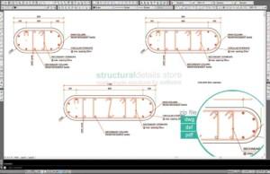 Oval Shaped Reinforced Concrete Column Details