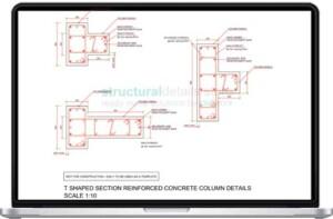 T Shaped Reinforced Concrete Column Details