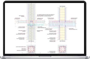 Continuous Floor to Floor Column Jacketing Reinforcement Detail