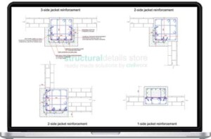 Partial Reinforced Concrete Column Jacketing Details