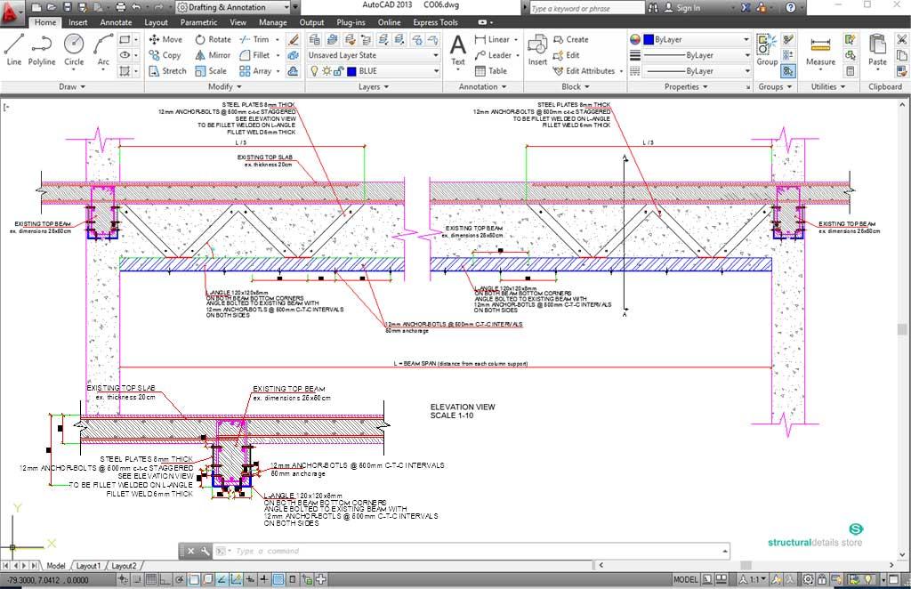 Steel Jacketing Reinforcement For Reinforced Concrete Beam