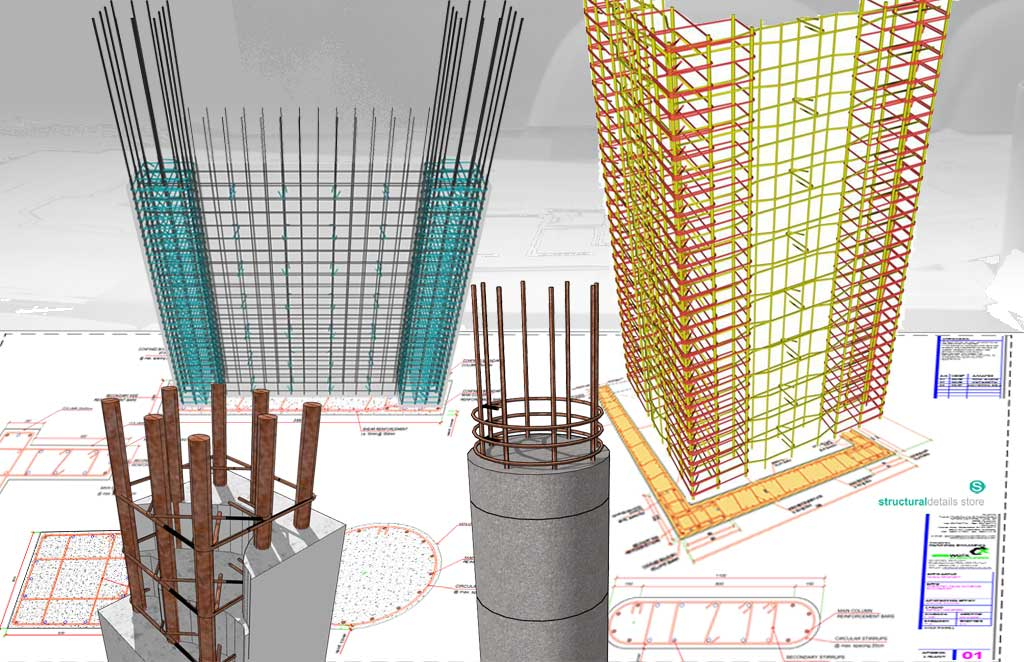 Complete Reinforced Concrete Columns Cross Section Details