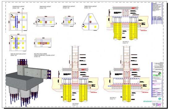 Reinforced Concrete Pile Caps Details