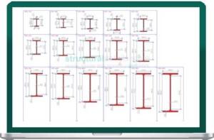 European IPE Profile Steel Sections dwg CAD drawings