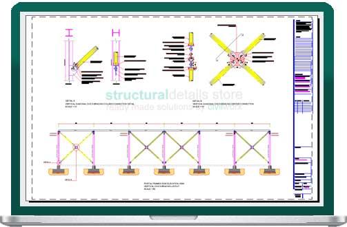 Steel Portal Frames Vertical CHS X Bracing Details