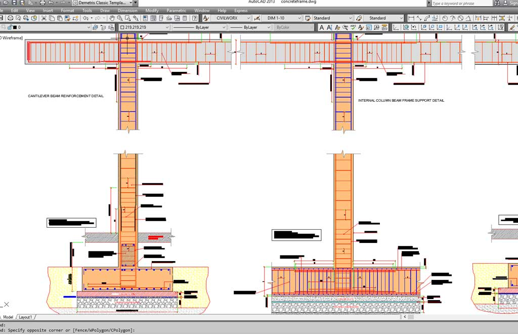 Reinforced Concrete Beam Column Multistorey Frame Connections