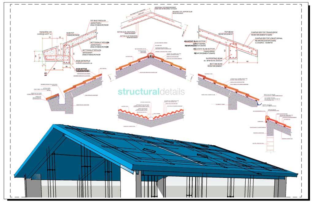 Reinforced Concrete Pitched Roof Bundled Construction Details