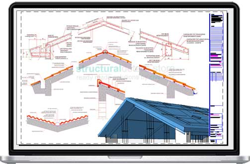 Reinforced Concrete Pitched Roof Bundled Construction Details