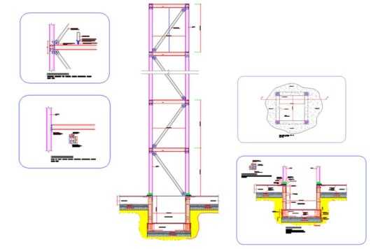 Steel Frame Elevator Shaft Details