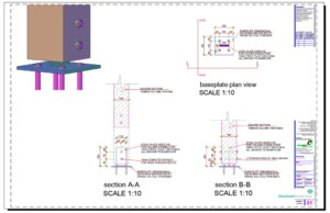 Steel Knife Baseplate Timber Column Support