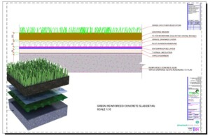 Green Reinforced Concrete Roof Slab Detail