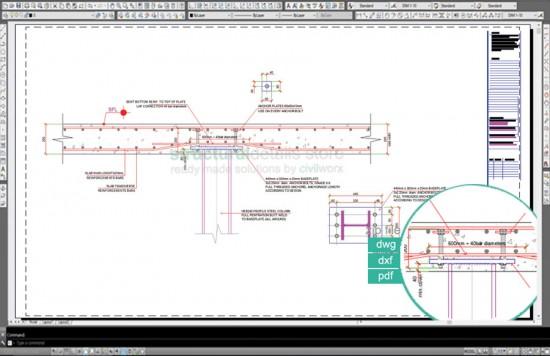 Reinforced Concrete Flat Slab Direct Steel Column Concealed Support