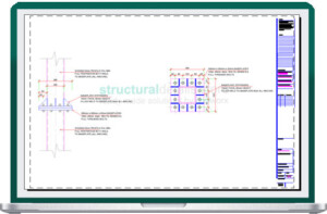 SHS Steel Column Splice Connection Detail Drawing