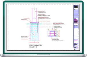 Steel Column Connection on Top of Reinforced Concrete Column