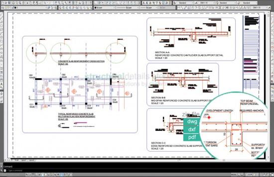 Reinforced Concrete Multi-Span Slab Support Details