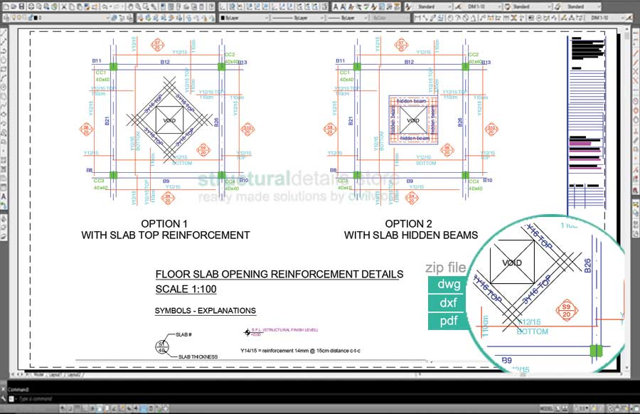 Flat Slab Opening Reinforcement Detail