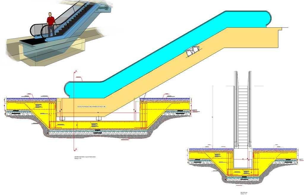 Escalator Shaft Pit Foundation Detail
