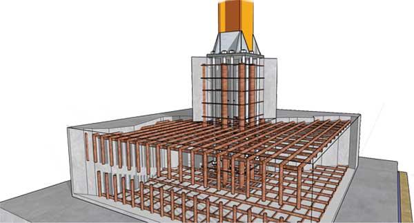 Steel Column Footing Foundation Detail